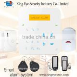 2016 New arrival 39 wireless zones CE approved GSM home mobile call gsm+pstn dual network burglar alarm system