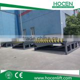 Heavy Duty Adjustable Loading Height Steel Material Electric Hydraulic Container Ramps For Truck