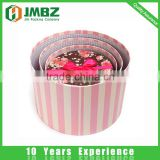 Paper flowers box colourful cardboard round box for rose flower packaging