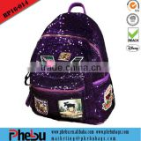 Trendy girl sequin cute backpack bag for high school girls(BP16-014)