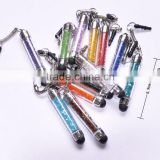 New crystal ball pen with touch stylus and key-ring and string,