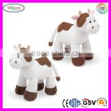 A478 High Quality Soft Cow Animal Knitted Free Stuffed Cow Toy Pattern