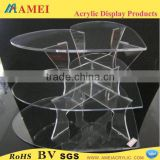 2013 Hot acrylic 3 tier heart shape wedding cake stand/Customized acrylic 3 tier heart shape wedding cake stand