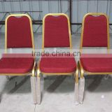 good quality Strong Stackable steel Backrest Banquet Chair,steel thickness:1.2mm,moulded foam