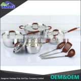 Hot direct from china new non-stick kitchenware 8pcs pots and pans with handles commercial cooking pots