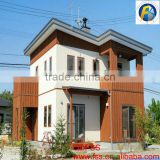 Villa Fence Design Wood Prefabricated Houses and Villas Light Steel Villa