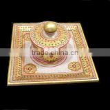 Indian marble Dry Fruit box with tray, Deepawali gift box, Wedding gifts, Decorative Sweets box, Fancy dry fruits box with tray