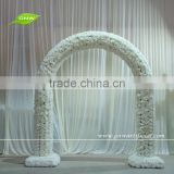 GNW FLA1603003-R Wholesale White wedding flower arch with Rose for Weddin Stage Backdrop Decoration