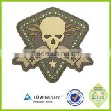 Customized 3d logo soft pvc silicone patch morale