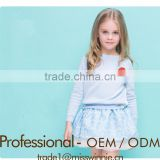 2016 Newest Fashion girls lace printed skirt Baby Girl Skirts long sleeve Cotton Top boutique girl clothing