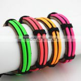 Authentic Tribal Leather Wristband Surf Multicolor Glitter Bracelet
