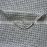pure white with elastic at 4 corner quilted polyester thick & soft hotel mattress