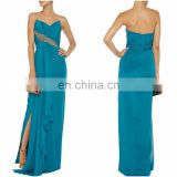 Beautiful evening dress 2016 online shopping floor length long evening silk-crepe gown