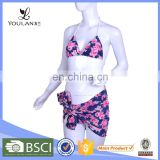 Wholesale Elegant Breathable Printed Microkini Beach Bikini