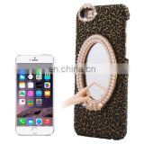 Stereoscopic Diamond Encrusted Mirror & Bowknot Plastic Case for iPhone 6 Plus(Black)