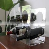 acrylic Lucite Wine tabletop storage holder,wine display rack