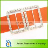Wholesale rectangles rhinestone clasp buckle