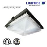 DLC Premium LED Gas Station Light, 90W, 200-480VAC, 5 YRS Warranty