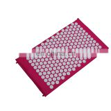 High Quality Private Label Flower of life Fiber Plastic Spike Back Neck Pain Acupressure Mat Pillow Set