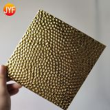 Good quality titanium-gold deep embossed stainless steel decoration plate