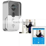smart home mutiuser remote control wifi video door bell with door release and tamper alarm via app on smart phone