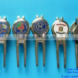 custom golf divot tool, metal golf repair tool, magnetic golf ball marker with divot tool