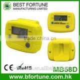 MB58D_YW Yellow Colorful promotion Gift plastic ABS Case LCD display pedometer instruction