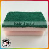 Kitchen Sponge With Scouring Pad OEM Shape