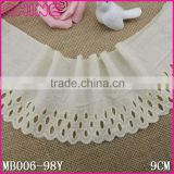"In Stock Factory Sale Cheap 3.67"" Creamy White Embroideried Various Styles 100% cotton Crochet Lace Trim                                                                         Quality Choice"