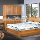 China manufacturer Solid teak wood bedroom furniture set with nightstand, bed and dressing table(SZ-BFA8001)