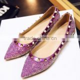 cheap online shoes glitter material ladies gold dinner shoes                                                                         Quality Choice