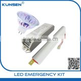 New products Halogen Emergency conversion kit with 12V battery pack halogen lamp emergency kits