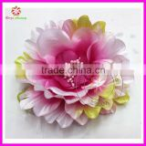 Peony Flower Baby Hair Bow clip Headband made in China
