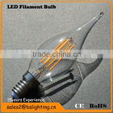decorative 2W 4W C35 FC35 LED bulb light, 440Lm, CRI80, 640W incandescent replacement, UL                                                                         Quality Choice