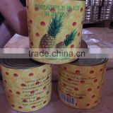 Canned pineapple in tin A10