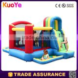 best quality amusing inflatable combo with water slide,inflatable bouncer with pool for kids