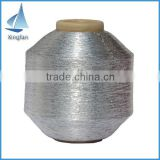 wholesale polyester pure silver metallic yarn for knitting