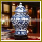 China ginger or temple ceramic blue and white jar made in vietnam                                                                         Quality Choice