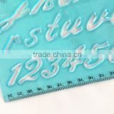Factory Plastic Letter Stencil Ruler stencil duplicating ruler for education stationery set in box