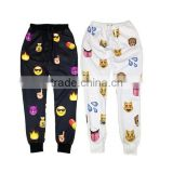 hip hop pants,sublimation emoji sweatpants,emoji joggers pants,mens joggers,2 colors ,4 size