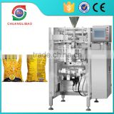 "10"" touch screen Contious Motion High Speed 100-180 bags/min Automatic Food Potato Chips Snack Vertilcal Packing Machine"