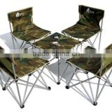 Camouflage Tables and chairs Outdoor Folding tables and chairs Portable 5 sets Set of tables and chairs