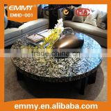 beauty natural black mother of pearl seashell mosaic table top