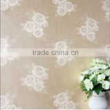 polyester non-woven compound jacquard fabric silk wallpaper rose wallpaper wall decoration