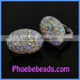 Wholesale Girls' Iridescent Crystal Make Clip On Earrings Fashion Earrings PEA07