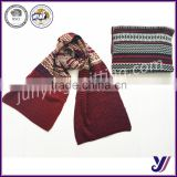 Factory Sales High quality jacquard wool felt stripe knitted infinity scarf pashmina scarf (can be customized)