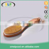 Long curve handle bath cleaning dry skin brush natural bristle body brush for scrubbing back brush