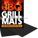 "BBQ Grill Mat, Set of 3 16"" X 13"" Fiberglass Fabric Nonstick Reusable Grilling Accessories -Works on Gas, Charcoal, Ovens,"