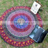 Indian Tapestry Mandala Round Roundie Yoga Mat Beach Throw Hippie Mandala Round Throw Beach Roundie Tapestry Beach Roundie Round