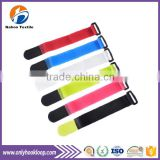 Self-locking back to back cable ties, printed logo back to back hook and loop cable ties, custom back to back cable tie